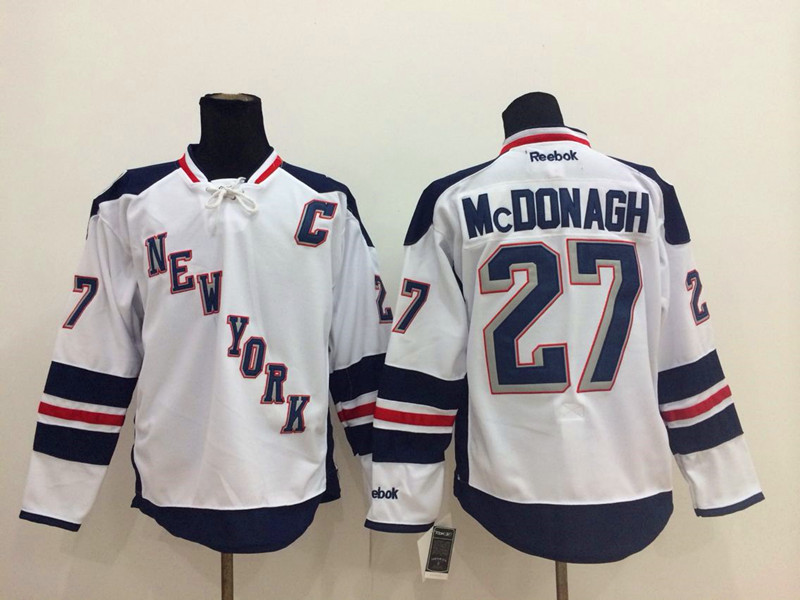 NHL New York Rangers 27 Ryan McDonagh White 2014 Stadium Series Jersey