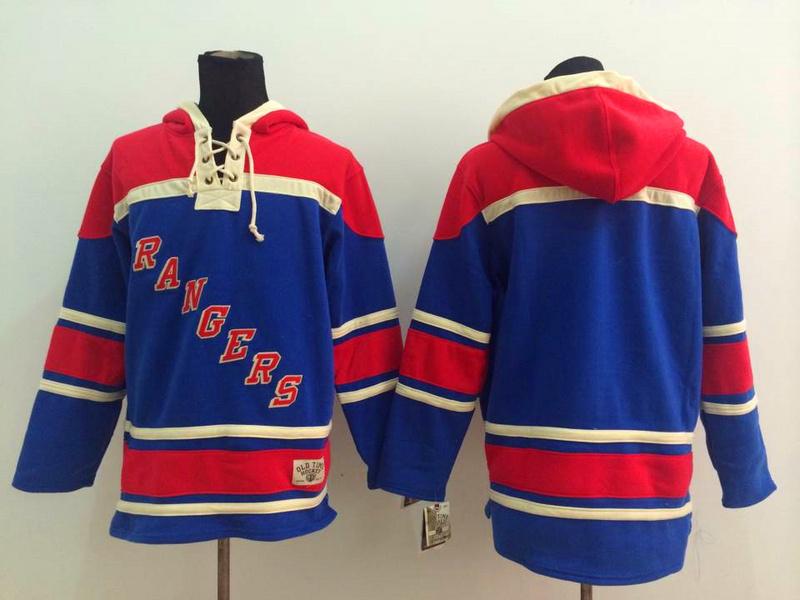 NHL New York Rangers Blank Blue 2014 Pullover Hooded Sweatshirt