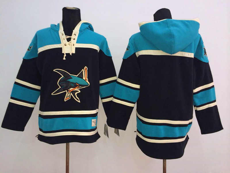 NHL San Jose Sharks Blank Black 2014 Pullover Hooded Sweatshirt