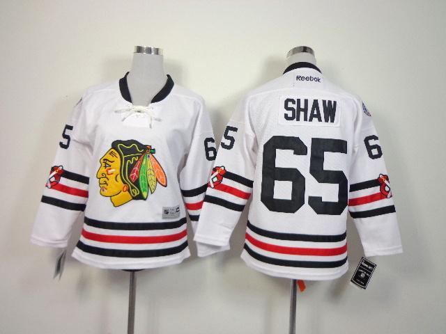 Youth NHL Chicago Blackhawks 65 Shaw White 2014 Winter Classic Jerseys