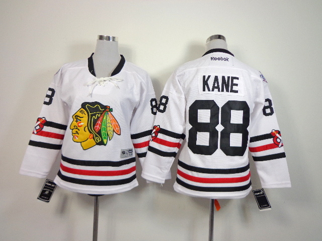 Youth NHL Chicago Blackhawks 88 Kane White 2014 Winter Classic Jerseys