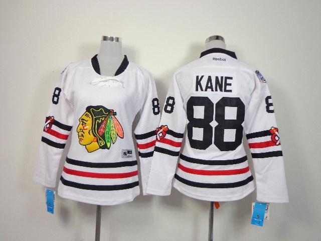 Womens NHL Chicago Blackhawks 88 Kane White 2014 Winter Classic Jerseys