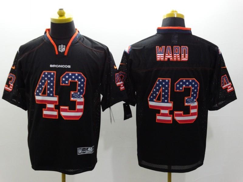 Denver Broncos 43 Ward 2014 New Nike USA Flag Fashion Black Elite Jerseys