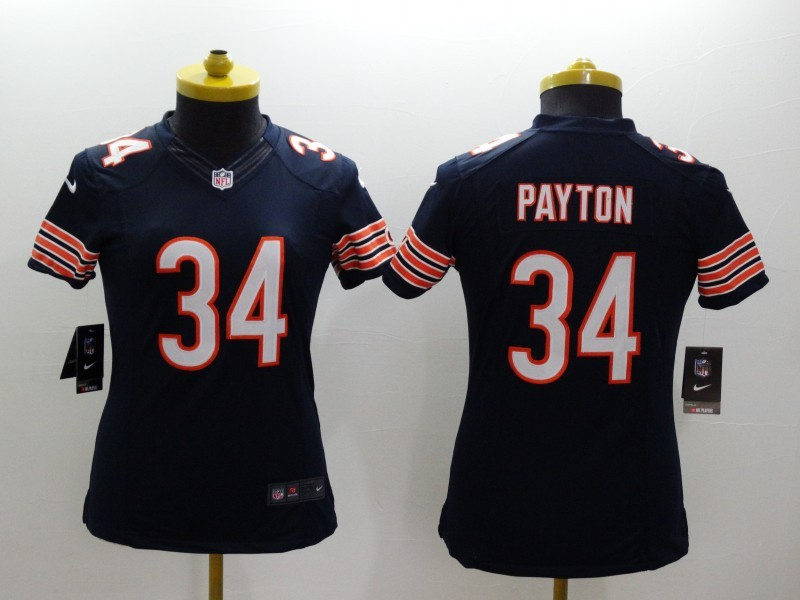 Womens Chicago Bears 34 Payton Blue 2014 New Nike Limited Jerseys