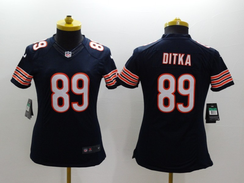 Womens Chicago Bears 89 Ditka Blue 2014 New Nike Limited Jerseys