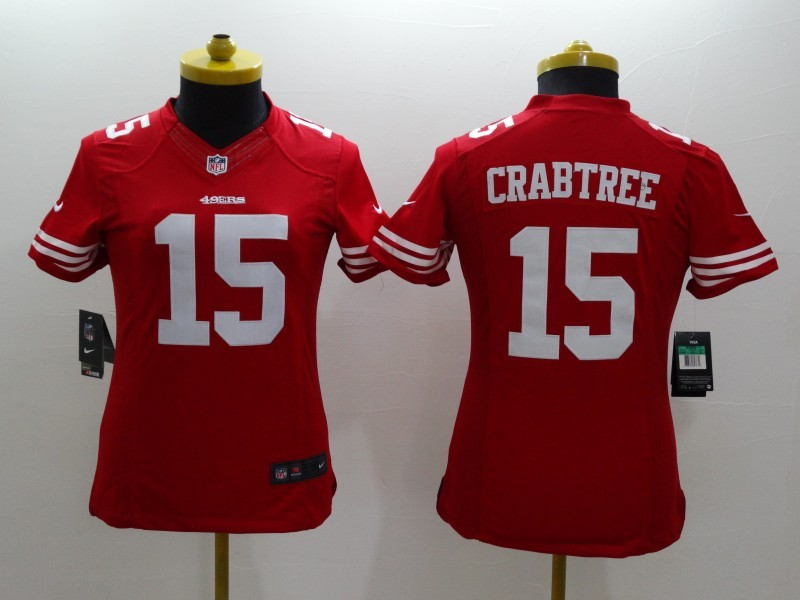 Womens San Francisco 49ers 15 Michael Crabtree red 2014 New Nike Limited Jerseys