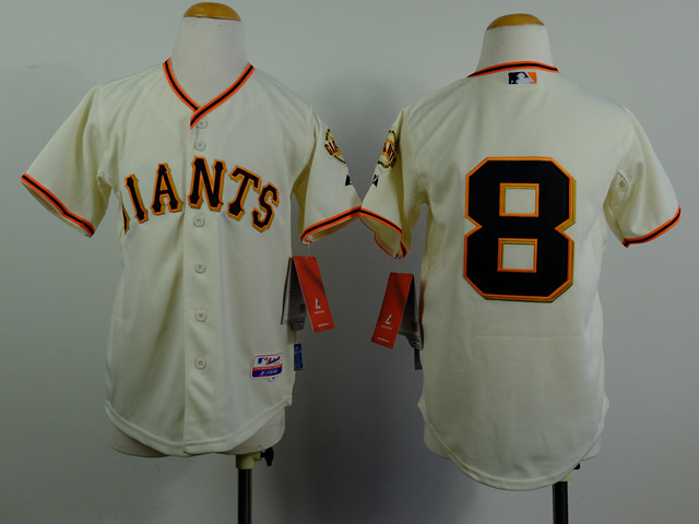 Youth MLB San Francisco Giants 8 Hunter Pence Gream 2014 Jerseys
