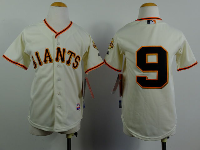 Youth MLB San Francisco Giants 9 Belt Gream 2014 Jerseys