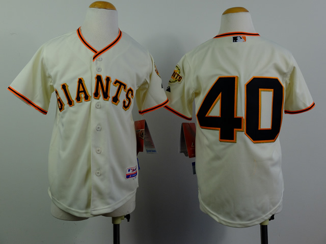 Youth MLB San Francisco Giants 40 Madison Bumgarner Gream 2014 Jerseys