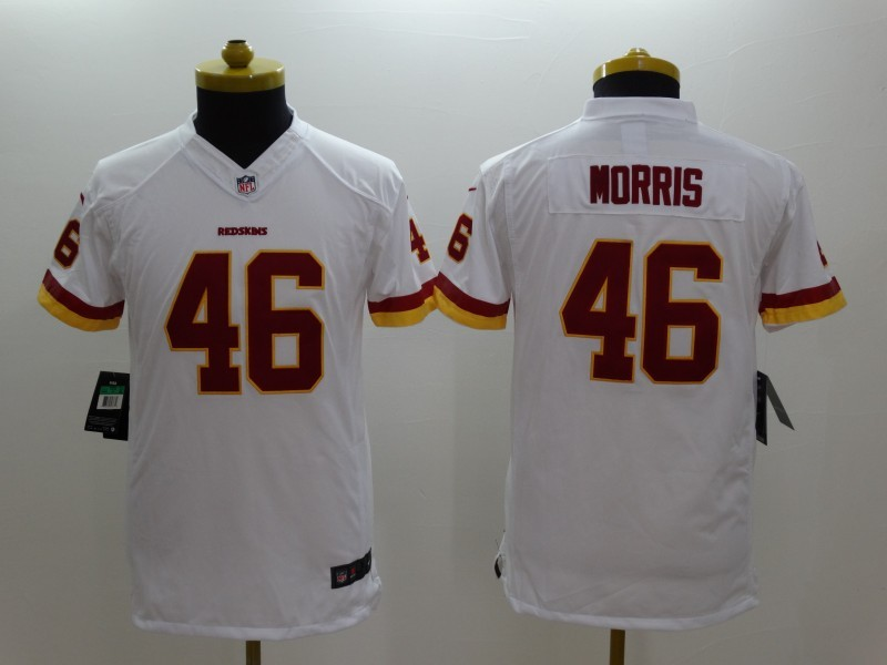 Youth Washington Red Skins 46 Morris White 2014 New Nike Limited Jerseys