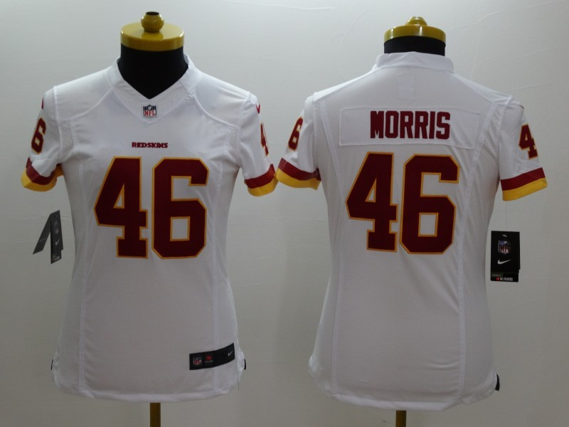 Womens Washington Red Skins 46 Morris White 2014 New Nike Limited Jerseys