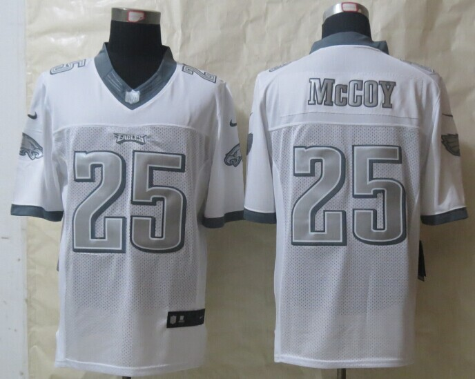 Philadelphia Eagles 25 McCoy Platinum White 2014 New Nike Limited Jerseys