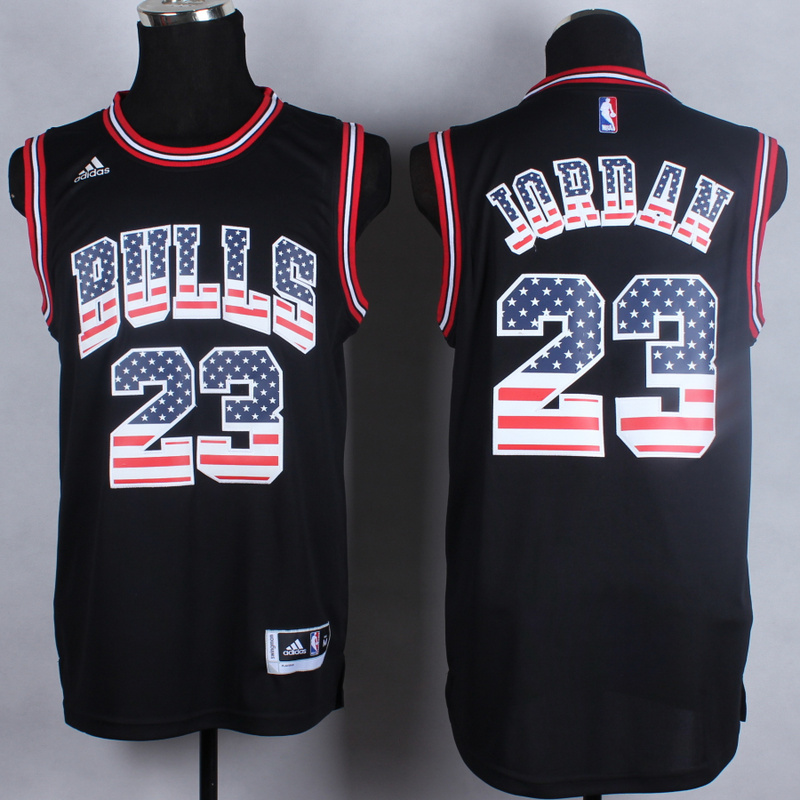 NBA Chicago Bulls 23 Michael Jordan Black Flag version 2014 Jerseys