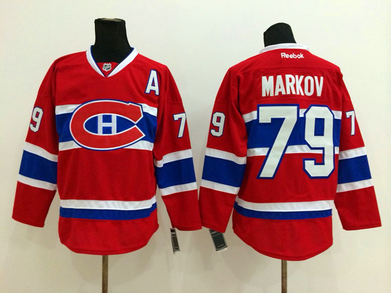 NHL Montreal Canadiens 79 Markov red 2014 Jerseys