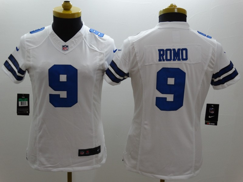 Womens Dallas Cowboys 9 Romo White 2014 New Nike Limited Jerseys