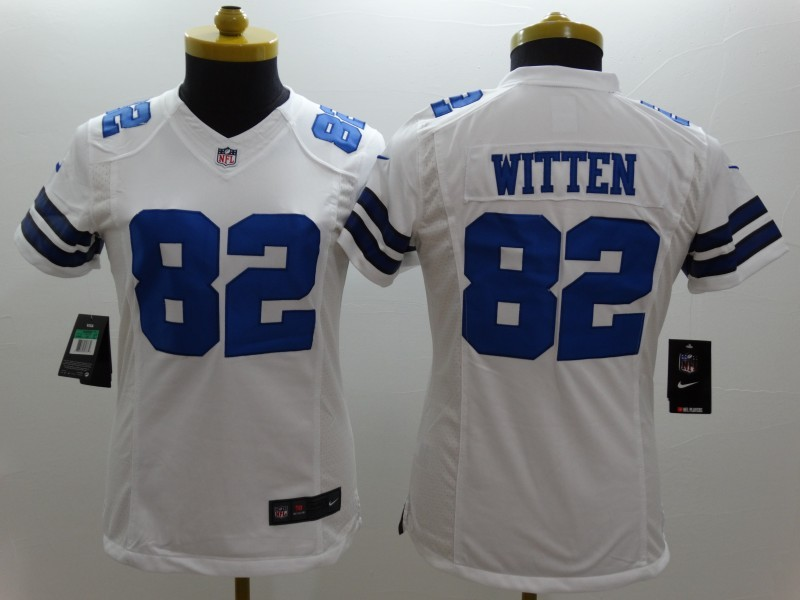 Womens Dallas Cowboys 82 Witten White 2014 New Nike Limited Jerseys