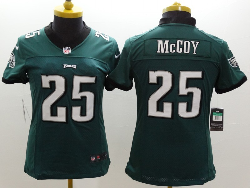 Womens Philadelphia Eagles 25 LeSean McCoy Green 2014 New Nike Limited Jerseys