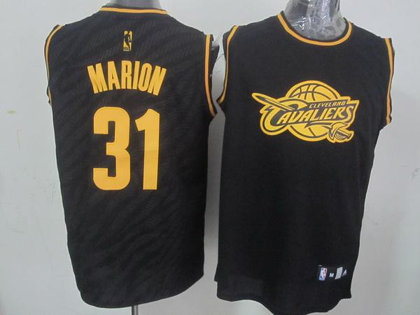NBA Cleveland Cavaliers 31 Marion Black Precious Metals Fashion Swingman
