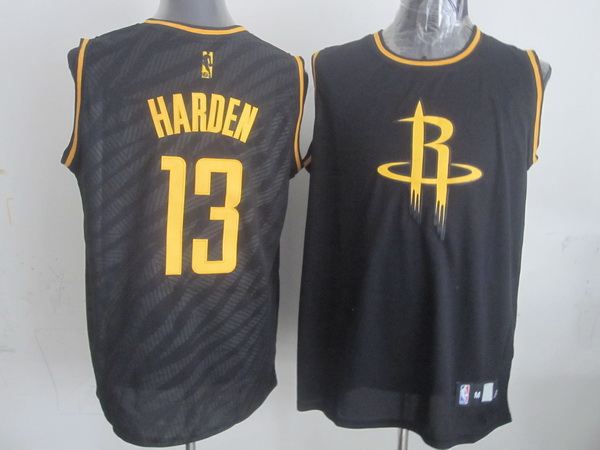 NBA Houston Rockets 13 James Harden Black Precious Metals Fashion Swingman