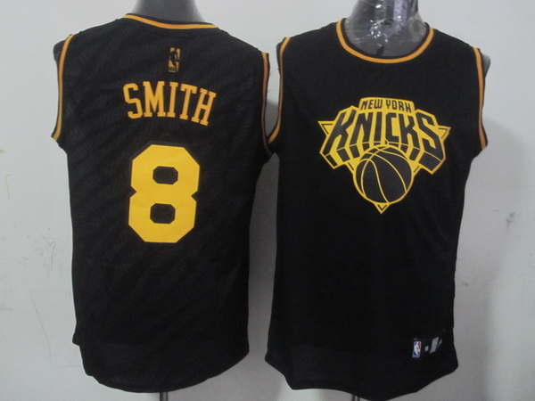 NBA New York Knicks 8 J.R. Smith Black Precious Metals Fashion Swingman