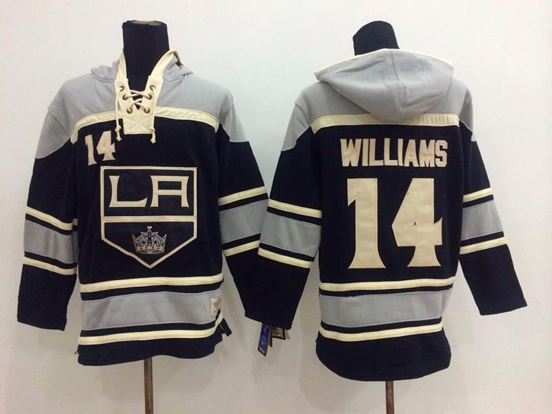 NHL Los Angeles Kings 14 Justin Williams Black Pullover Hooded Sweatshirt