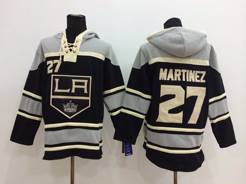 NHL Los Angeles Kings 27 Martinez Black Pullover Hooded Sweatshirt