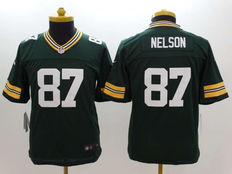 Youth Green Bay Packers 87 Nelson Green 2014 New Nike Limited Jerseys
