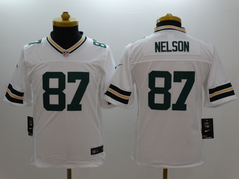 Youth Green Bay Packers 87 Nelson white 2014 New Nike Limited Jerseys
