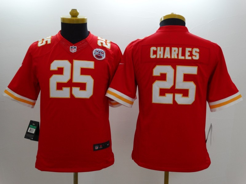 Youth Kansas City Chiefs 25 Jamaal Charles red 2014 New Nike Limited Jerseys