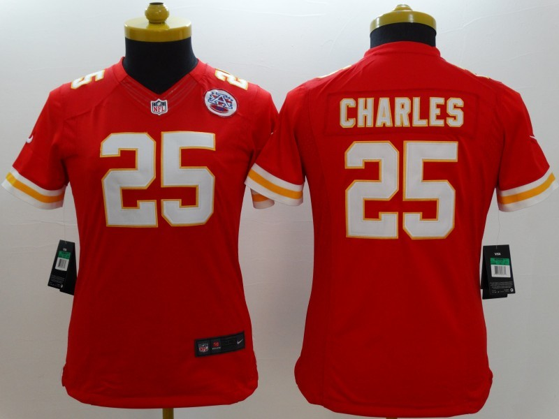 Womens Kansas City Chiefs 25 Jamaal Charles red 2014 New Nike Limited Jerseys