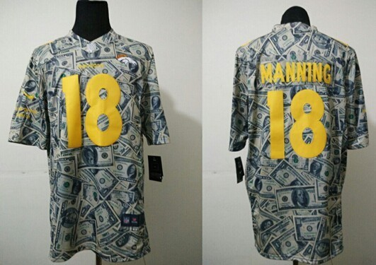 Denver Broncos 18 Peyton Manning Dollar version 2014 Nike Jerseys