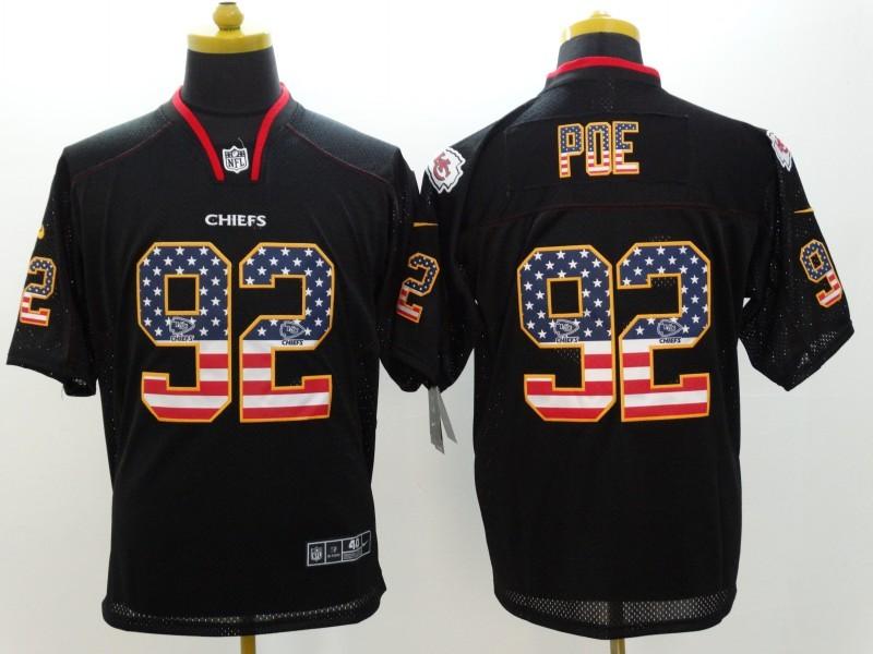 Kansas City Chiefs 92 Poe 2014 New Nike USA Flag Fashion Black Elite Jerseys
