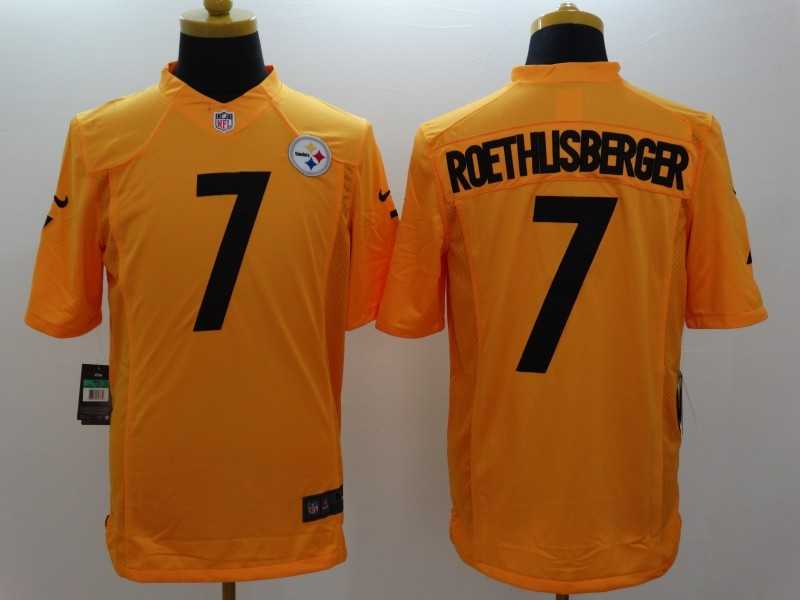 Pittsburgh Steelers 7 Ben Roethlisberger Gold 2014 New Nike Limited Jerseys