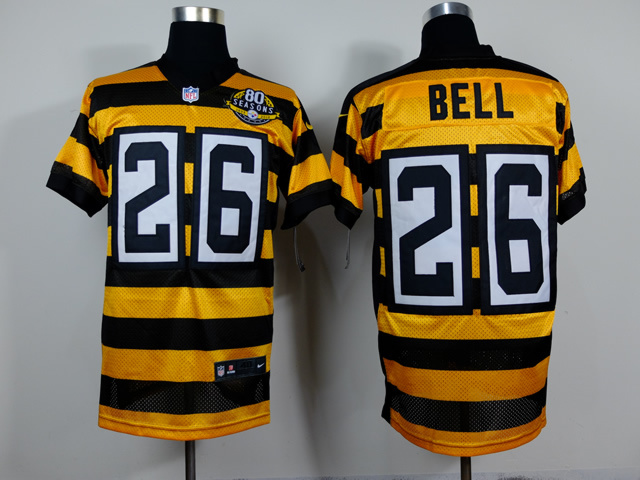 Pittsburgh Steelers 26 Bell Yellow Black 2014 Nike jerseys