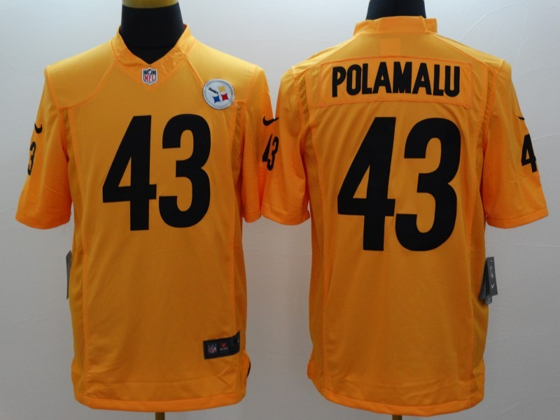 Pittsburgh Steelers 43 Troy Polamalu Gold 2014 New Nike Limited Jerseys