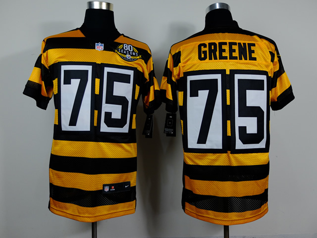 Pittsburgh Steelers 75 Joe Greene Yellow Black 2014 Nike jerseys