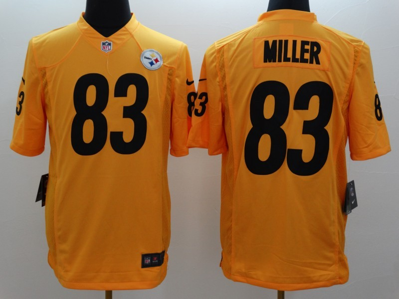 Pittsburgh Steelers 83 Heath Miller Gold 2014 New Nike Limited Jerseys