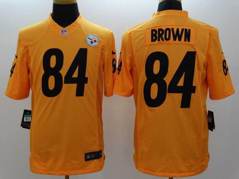 Pittsburgh Steelers 84 Antonio Brown Gold 2014 New Nike Limited Jerseys