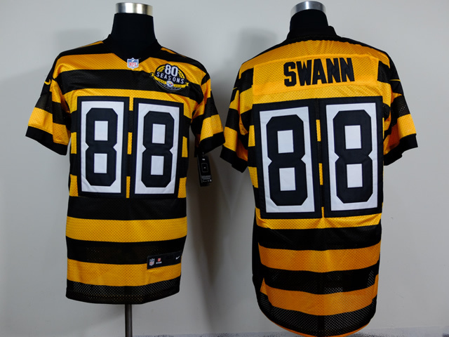 Pittsburgh Steelers 88 Swann Yellow Black 2014 Nike jerseys