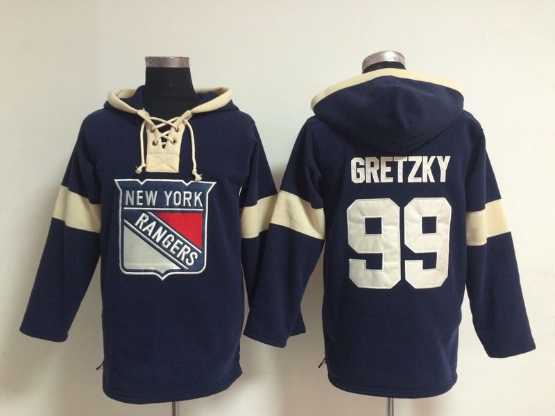 NHL New York Rangers 99 Gretzky Blue Pullover Hooded Sweatshirt