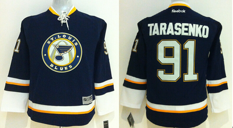Youth NHL St. Louis Blues 91 Vladimir Tarasenko Blue 2014 Jerseys