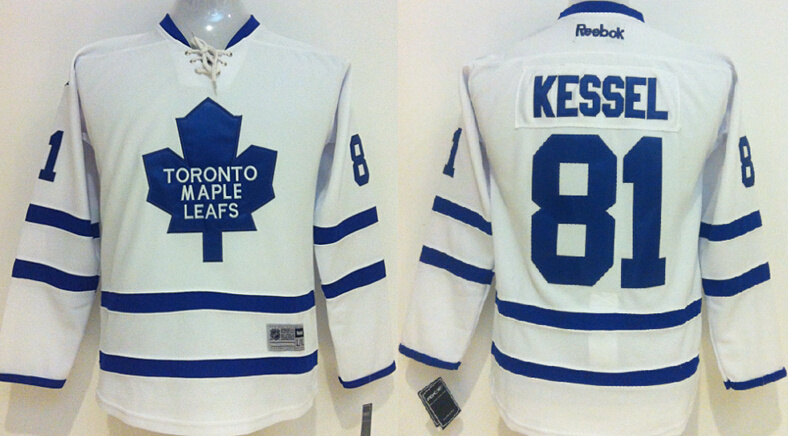 Youth NHL Toronto Maple Leafs 81 Phil Kessel white 2014 Jerseys