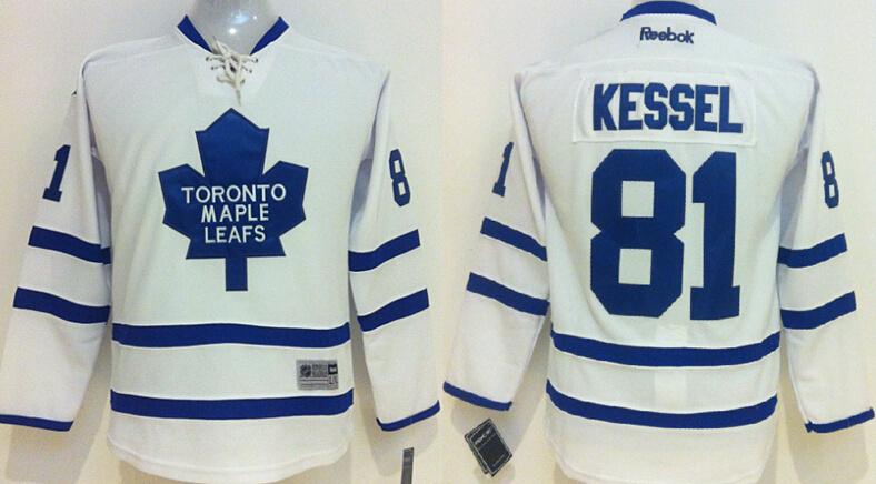 Youth NHL Toronto Maple Leafs 81 Phil Kessel white 2014 Jerseys