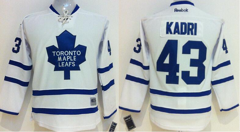 Youth NHL Toronto Maple Leafs 43 Nazem Kadri white 2014 Jerseys