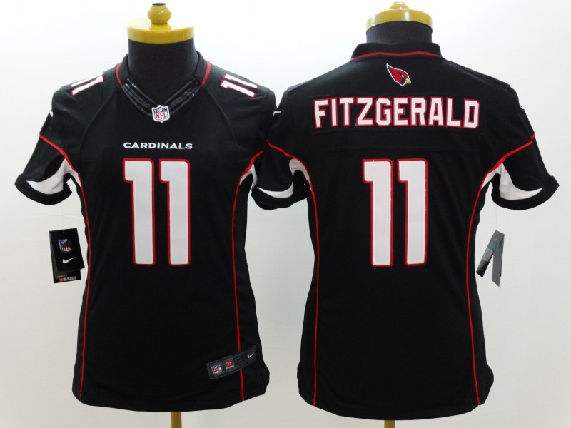 Womens Arizona Cardinals 11 Larry Fitzgerald Black 2014 New Nike Limited Jerseys