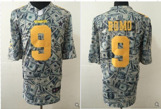 Dallas cowboys 9 Romo Dollar version 2014 Nike Jerseys