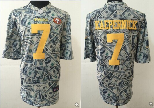 San Francisco 49ers 7 Colin Kaepernick Dollar version 2014 Nike Jerseys