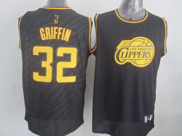 NBA Los Angeles Clippers 32 Blake Griffin Black Precious Metals Fashion Swingman