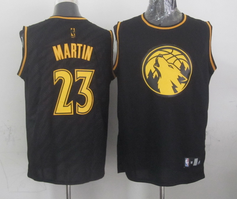 NBA Minnesota Timberwolves 23 Martin Black Precious Metals Fashion Swingman