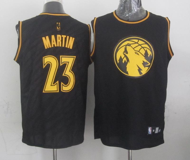 NBA Minnesota Timberwolves 23 Martin Black Precious Metals Fashion Swingman